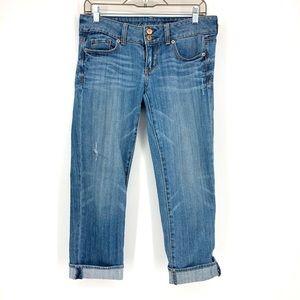 American Eagle Artist Crop Stretch Capri Jeans 4
